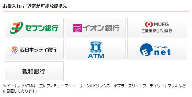 アイフルキャッシング ATM