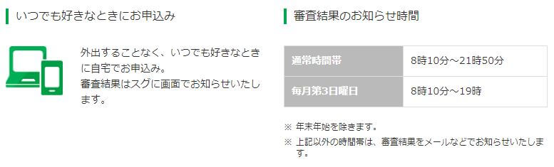 レイクALSA WEB 審査結果